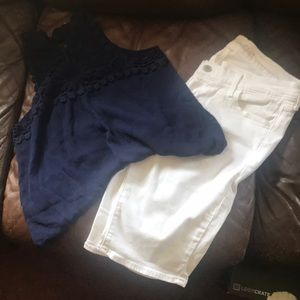 White Bermuda shorts from old navy